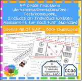 4th Grade Fractions Worksheets & Assessments Entire 4.NF S