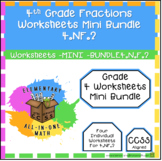 Comparing Fractions Worksheets 4th Grade - Covering 4.NF.2