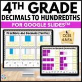 4th Grade Fractions and Decimals - Decimal Notation {4.NF.6} Google Classroom