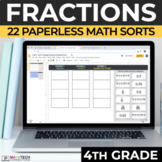 4th Grade Fractions and Decimals Distance Learning Digital