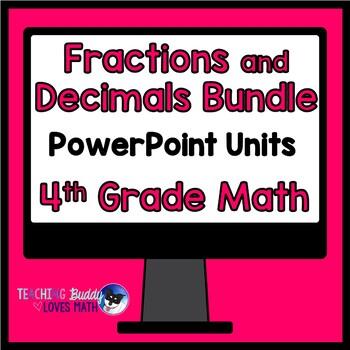 Fractions and Decimals Math Unit 4th Grade Common Core Bundle