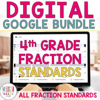 4th Grade Fractions for Google Classroom MEGA GROWING BUNDLE