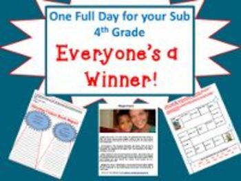 Everyone's A Winner - Common Core Aligned Full Day For Your Sub