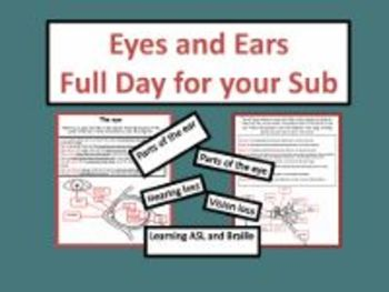 Eyes and Ears - Common Core Aligned Full Day For Your Sub