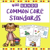 4th Grade Full Page Common Core I Can Statements With Pictures