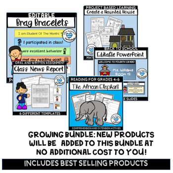 4th Grade Back To School Full Year Resource Growing Bundle