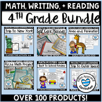 4th Grade Back To School Activities Bundle Worksheets Math Games and More