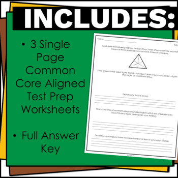 4th Grade Math Test Prep Geometry Standards