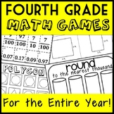 4th Grade Math Games for the Entire Year, Full Year of Fourth Grade Math Centers
