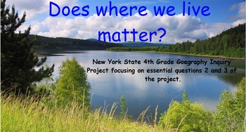 4th Grade Geographical Inquiry Project