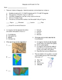 4th Grade Geography, Maps, 50 States Unit Test