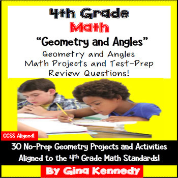 4th Grade Geometry & Angles, 30 Enrichment Projects and 30