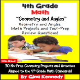 4th Grade Geometry & Angles, 30 Enrichment Projects and 30 Test-Prep Problems