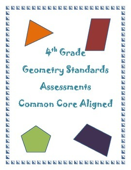 4th Grade Geometry Assessments Common Core Aligned