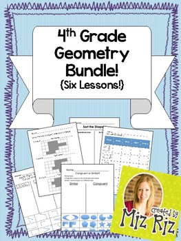 4th Grade Geometry Bundle! {Six Lessons!}