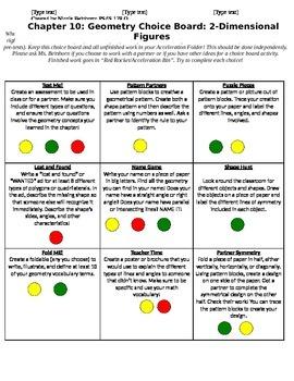 4th Grade Geometry Choice Board