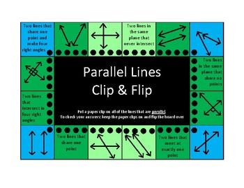 4th Grade Geometry Clip & Flip Boards (self checking)