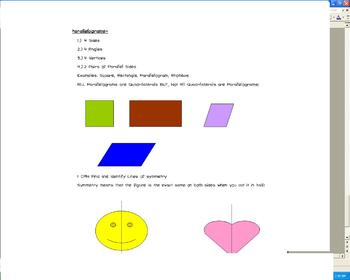 4th Grade Geometry Common Core I CAN Statements and What they MEAN!
