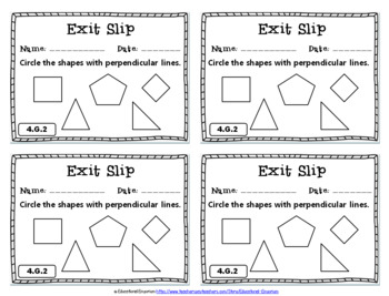 4th Grade Geometry Exit Slips: Geometry Exit Tickets, 4th Grade Geometry (Math)