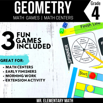 4th Grade Geometry Games and Centers | Lines and Angles Games