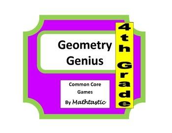 4th Grade Geometry Genius Game for Common Core