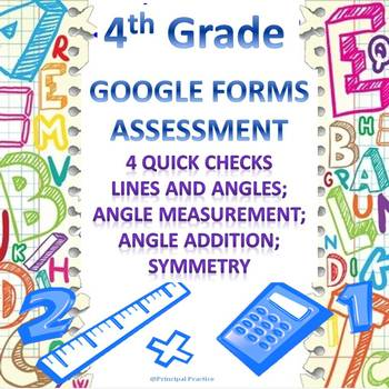 4th Grade Geometry Google Forms Assessments 4 Quick Checks