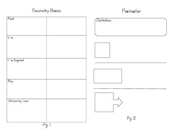 4th Grade Geometry Guided Notes