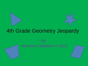 4th Grade Geometry Jeopardy Review