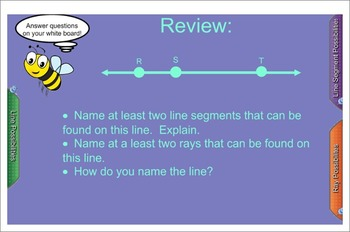 Drawing Points, Lines, Rays, and Segments- Interactive SmartBoard Lesson
