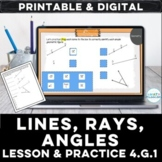 Geometry Lines, Rays & Angles Digital Lesson for Google™ S