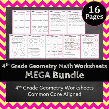4th Grade Geometry Math Bundle: 4th Grade Geometry Curriculum MEGA Bundle