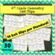 4th Grade Geometry Math Bundle: 4th Grade Geometry Review
