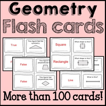 Geometry Math Flash Cards Common Core Buddy {4th Grade}