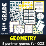 Geometry 4th Grade: 8 games for Common Core