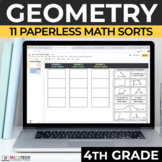 4th Grade Geometry Math Sorts - Google Slides - Distance Learning