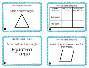 Geometry Task Card Bundle | Geometry Math Centers | Geometry Games