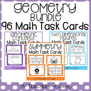 Geometry Task Card Bundle for 4th Grade