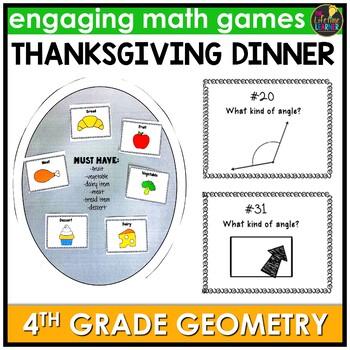 4th Grade Geometry Thanksgiving Game