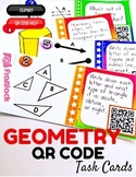 4th Grade Geometry Task Cards with QR Codes