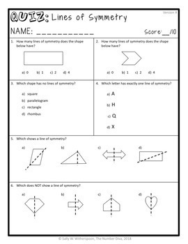 4th Grade Geometry Quiz Bundle, 6 Asssessments Cover all CCSS Standards!