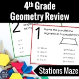 4th Grade Geometry Review Stations Maze  4.G