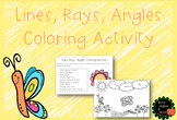 4th Grade Geometry Spring Coloring Activity (Lines, Angles