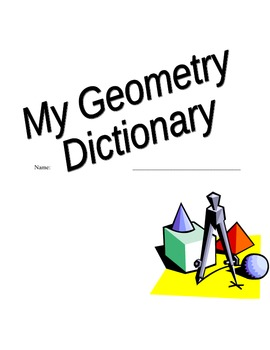 4th Grade Geometry Terms Dictionary