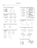 4th Grade Geometry Unit Test
