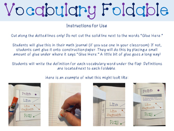 4th Grade Geometry Vocabulary