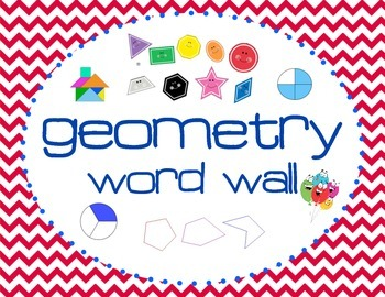 4th Grade Geometry Word Wall Booklet