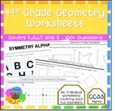 4th Grade Geometry - Worksheet Bundle (4.G.1, 2 & 3)