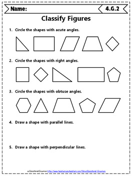 4th Grade Geometry Worksheets: 4th Grade Math Worksheets, Geometry
