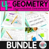 ALL 4th Grade Geometry Worksheets or Tests 4.G.1, 4.G.2, 4