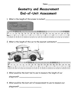 4th Grade Geometry and Measurement Unit Assessment